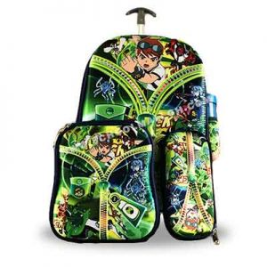 Ben-10-Back-Pack-with-a-lunch-box,-pencil-case-and-a-water-bottle-back-pack