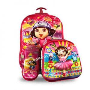 Dora-the-Explorer-Rainbow-Back-Pack-with-a-lunch-box-and-a-pencil-case